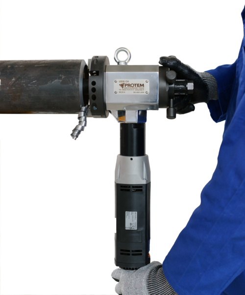 US30CH-E - ID mount tube beveler with electric drive 220V ID locking bevelling machine