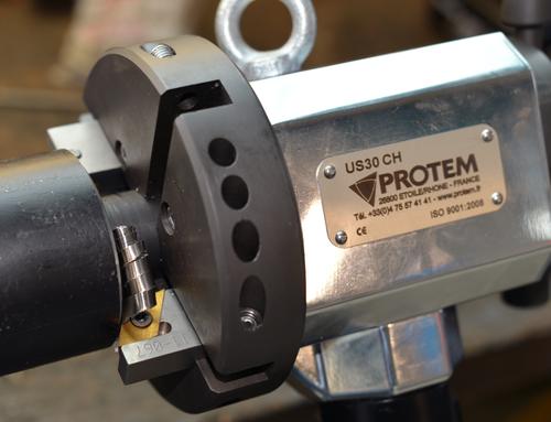 US30HY - ID mount tube beveler with hydraulic drive ID locking bevelling machine