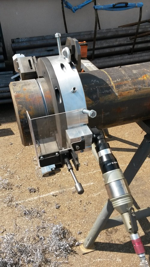 TTNG219 - Clamshell Cutting & Beveling machine-Pipe Cold Cutting Machine for pipes ranging from 4