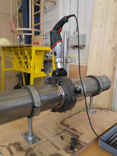 TTSNG193 - Splitframe Orbital Tube Cutting & Beveling Clamshell  for pipes from 114 to 193 mm